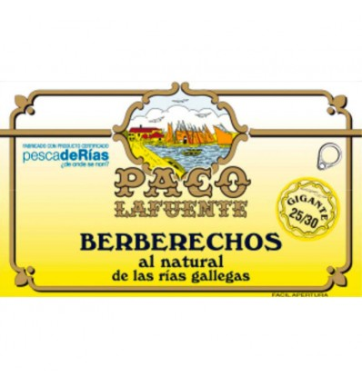Berberechos Paco Lafuente 25/30 Berberechos al natural de las Rías Gallegas