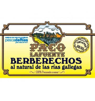 Berberechos Paco Lafuente 30/35 al natural Rías Gallegas