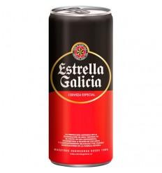 Lata cerveza Estrella galicia 33cl
