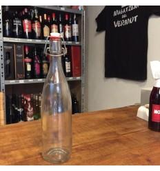 Botella Vintage vidrio tapón cerámica 75cl.